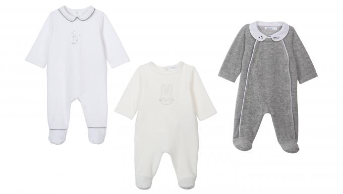 European Baby Pajamas Footed
